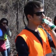 A Beer can is all this guy needs to sound just like a rally car. Romanian Rally fan…
