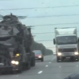 Mad Max truck on the highway