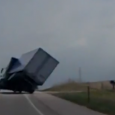 Amazing footage of a truck nearly blown onto its side during storm force winds. The vehicle sped through a roadside fence on the Kansas highway once it came back to […]