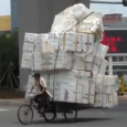 Overloaded vehicles, bicycles, scooters, bikes and cars carrying oversized loads. Top 10 Overloaded cars, bikes and motorcycle transport on the road.