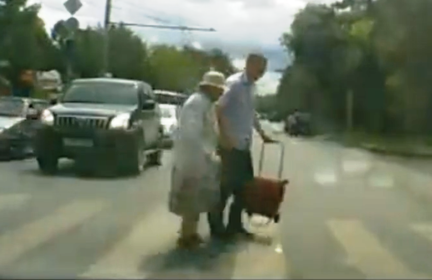 will you help old people cross the road road traffic fail videos