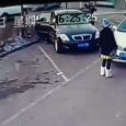 Incredible video from China catches a fake car accident. A young woman wanted to make an insurance scam by pretending he was hit by a car.