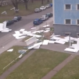Extreme wind blows insulation tiles off roof. Dramatic footage has emerged of extreme wind blowing polystyrene insulation tiles off a roof in Prague, Czech Republic. The roof ofthe famous Strahov […]