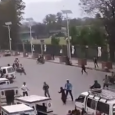 Another new cctv footage of nepal earthquake happens in the road. Nepal Earthquake's severity captured in cctv footage.