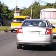 Pedestrian scared of dog gets hit by van caught on dashcam in Russia. The man had a head injury and a broken nose and was taken to hospital, this all […]