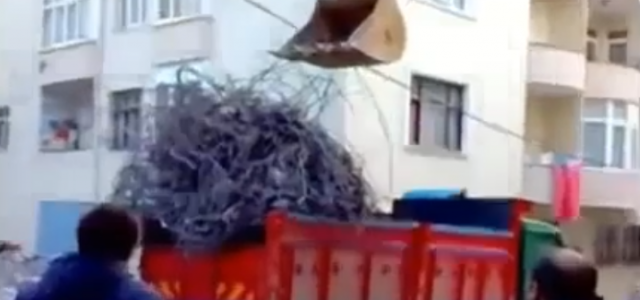 Excavator at Work, Truck Loading Fail! Excavator overloading a dump truck…